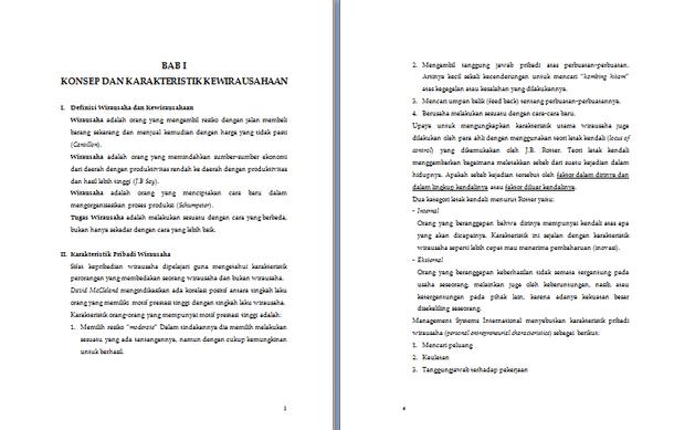 Contoh Makalah Kewirausahaan Lengkap Format Docx Microsoft Word Contoh Docs