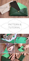 DIY Leather Pouch. Tutorial & Pattern