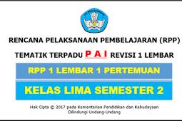 RPP 1 Lembar PAI Kelas 5 SD/MI Kurikulum 2013