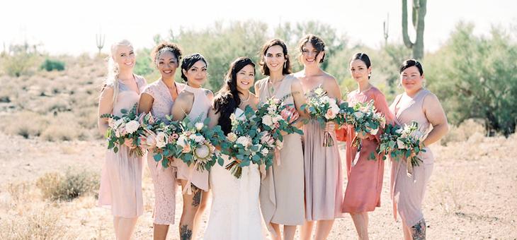 The Dreamiest Color-Filled Arizona Desert Wedding