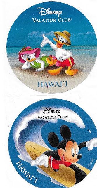 Disney Vacation Club Hawaii Stickers Mickey and Friends DVC