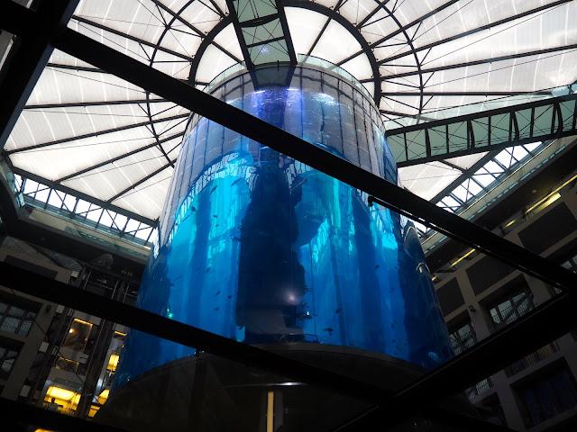 Aquarium tank in Radisson Blu, Berlin, Germany