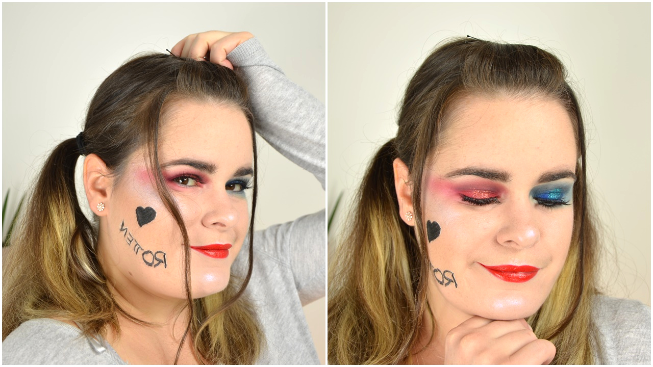 maquillage halloween harley quinn suicide squad