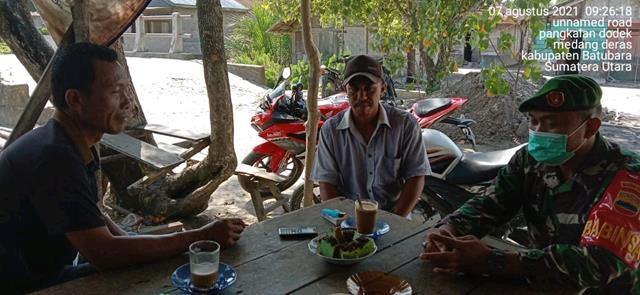 Komsos Dengan Perangkat Desa Dilakukan Personel jajaran Kodim 0208/Asahan Diwilayah Binaan