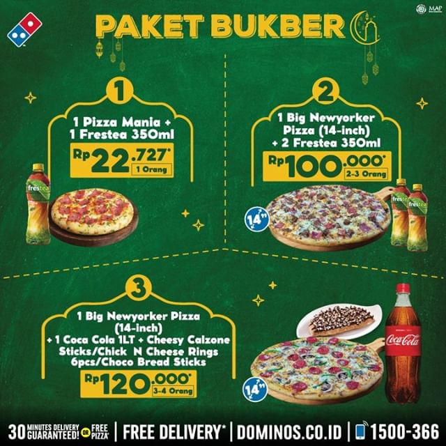 #Dominos - #Promo Paket Bukber Ramadhan 2020 Mulai 22 Ribu-an