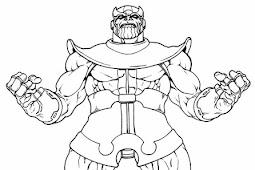 Ausmalbilder Thanos - Thanos zum Ausmalen, Nachmalen