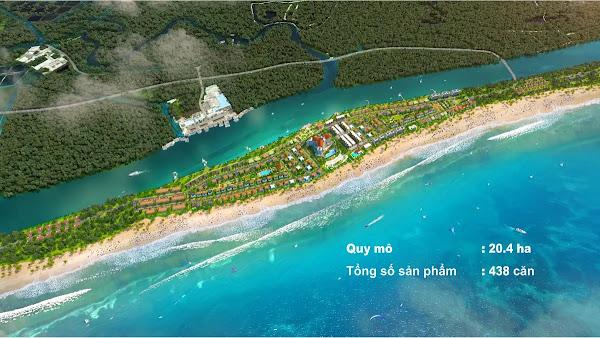 phối cảnh dự án Habana Island Hồ Tràm góc nhìn từ trên cao