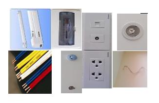 Thiết bị điện chiếu sáng và các vật liệu khác