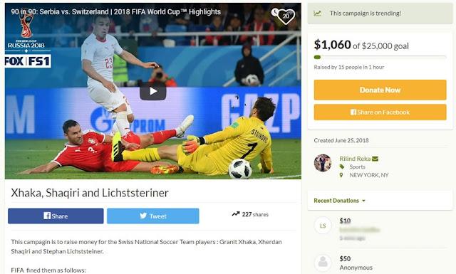 Albanians ready to pay the FIFA's fines against Granit Xhaka and Xherdan Shaqiri,  Stephan Lichtsteiner