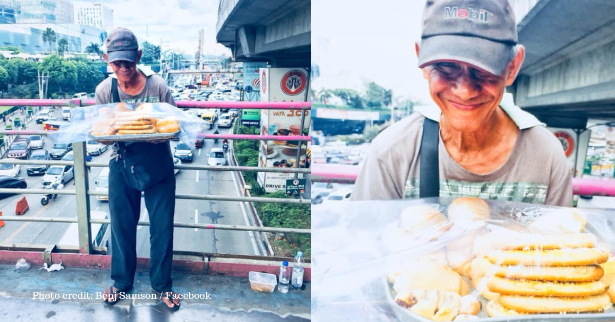 Netizen Urges People to Buy from Hardworking Grandpa Selling at Footbridge