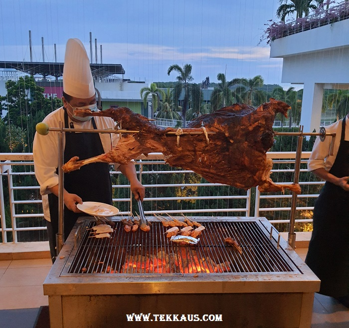 Grilled Lamb for ramadhan buffet dinner at hotel