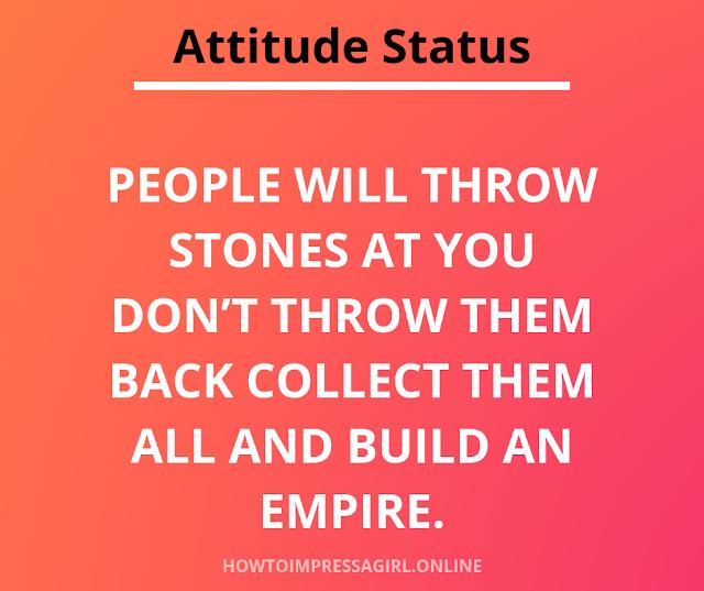 Attitude Status fb whatsapp