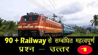 Railway GK IN HINDI रेलवे NTPC सामान्य अध्यन सम्बंधित