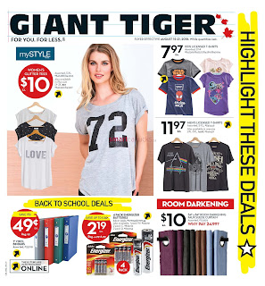 Giant Tiger Canada Flyer August 15 - 21, 2018
