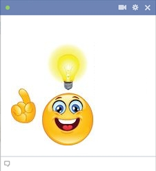 Idea Smiley Emoticon For Facebook