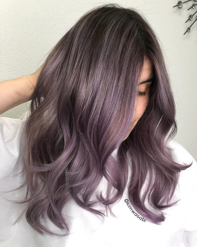 Photo Ash Purple Hit Hair Color In Shades Of Lavender Styling