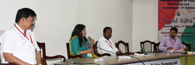 L to R: K S Alagiri, Bhanu Gomes, Dr C K Tamilarasan and S A Hariharan