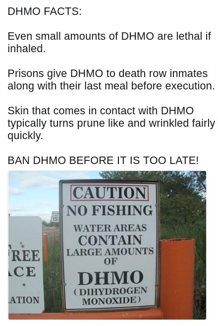DHMO Fact funny dank meme
