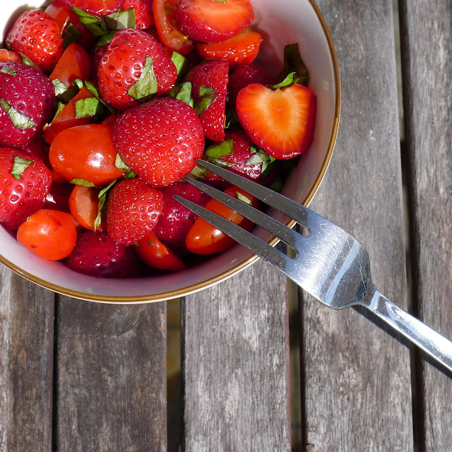 Strawberry Tomato Summer Salad