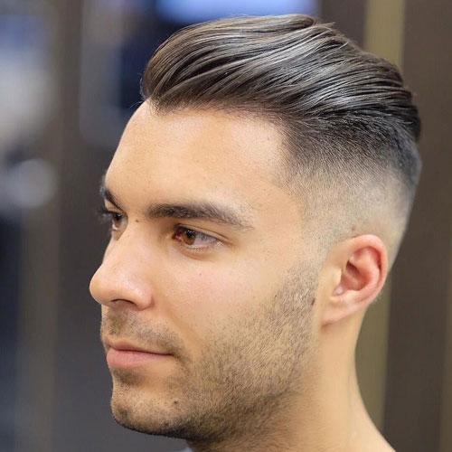 Corte de cabello hombre peinado para atras