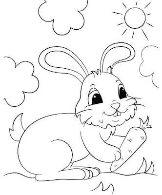 10 Sketsa Gambar Kelinci Hitam Putih Untuk Anak Tk Dan Paud