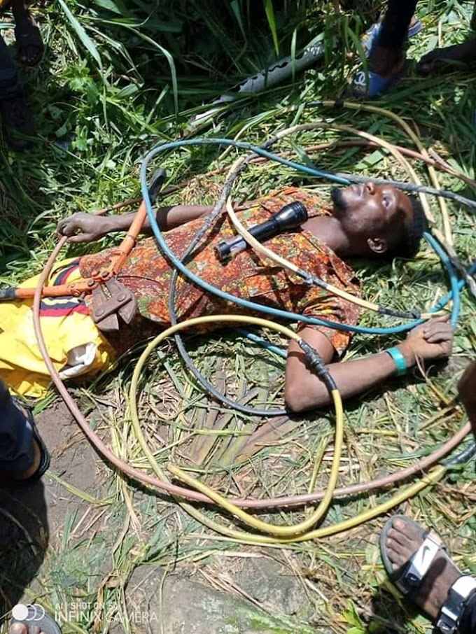 Shock : Man Found Death After Trying To Steal Nepa Cable Wire (See Photos)
