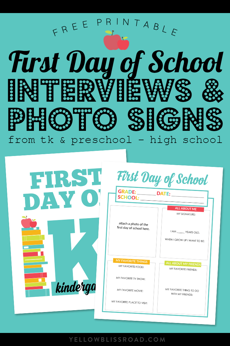 14 First Day Of School Photo Ideas Mine For The Making