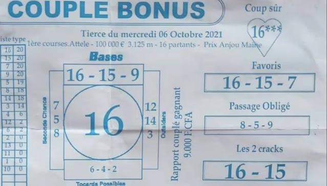 Pronostic quinté Mercredi Paris-Turf TV-100 % 06/10/2021