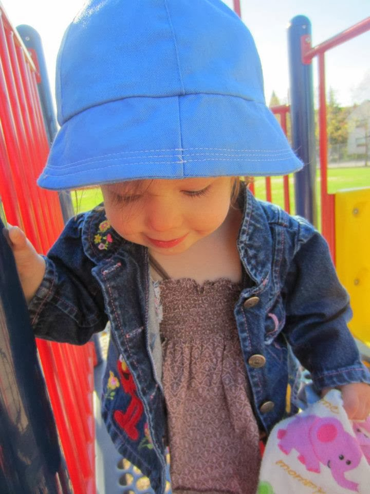 toddler girl at playground