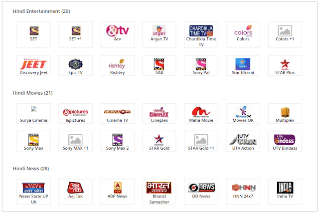 TataSky 139 Pack Channel List