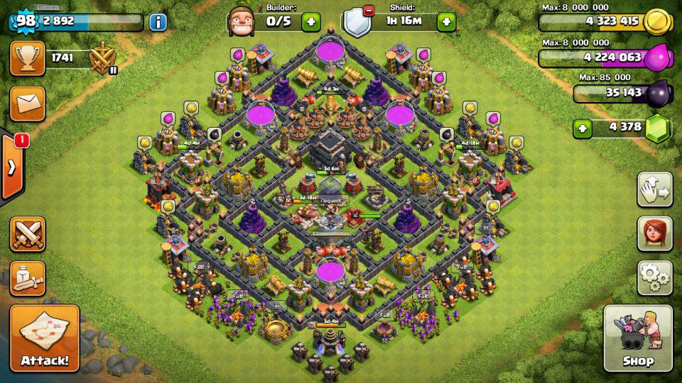 Base Coc Th 9 Keren Dan Kuat 4