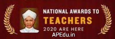 National awards to teachers 2020