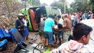 Polres KLU Segera Selidiki Penyebab Kecelakaan Bus