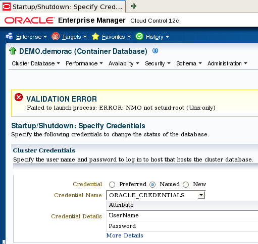 Database administrator workshop: How to solve the error
