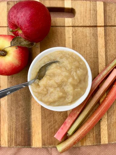 Rhubarb Applesauce (No Sugar Added)