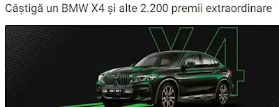 regulament castigatori concurs unibet bmw x4