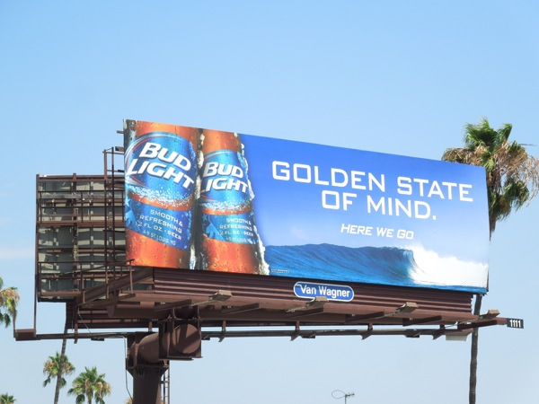 Bud Light Golden State of Mind billboard