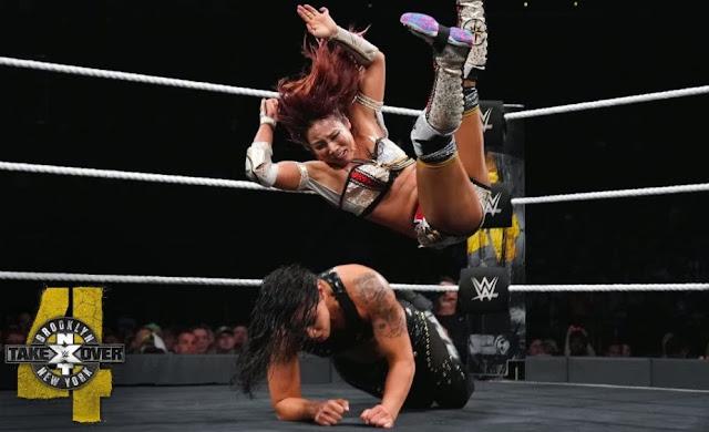Shayna Andrea Baszler and Kairi Hôjô in NXT TakeOver: Brooklyn IV (2018)
