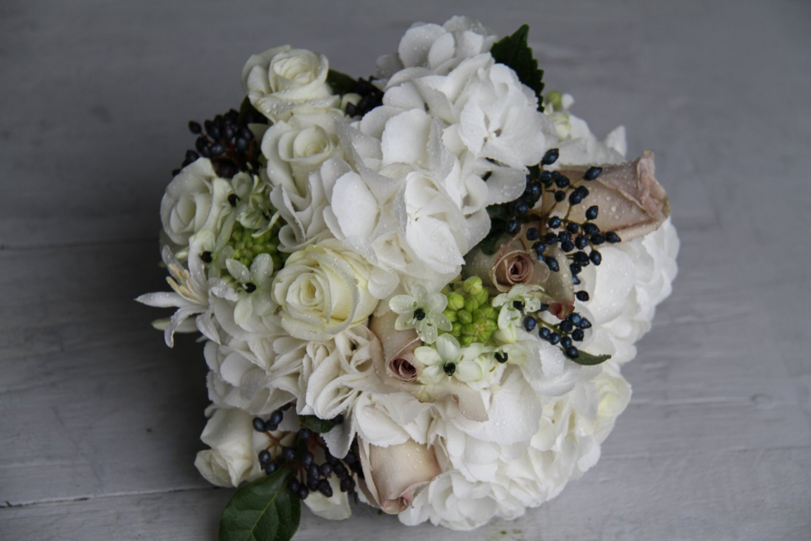 The Flower Magician Black White Wedding Bouquet