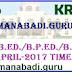 Krishna University B.Ed./B.P.Ed./B.Ed (Special) Examinations, April-2017 Time table