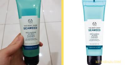 The body shop seaweed deep cleansing facial wash,Sabun Cuci Muka Untuk Kulit Berminyak Dan Berflek Hitam