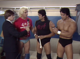 NWA Starrcade 83: A Flare for the Gold - Ric Flair chats to Jay Youngblood and Ricky Steamboat backstage