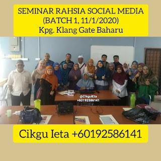 Seminar, Seminar Rahsia Social Media, Rahsia Followers, Rahsia Likers, Seminar Insta Basic Santai, Cikgu Ieta, Belajar Instagram, Instagram Basic, Rahsia Sosial Media, SocMed, Social Media