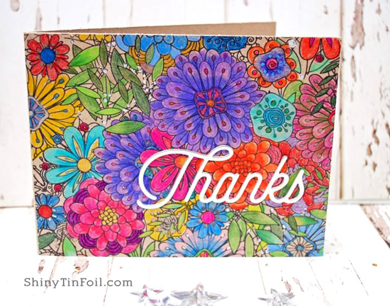 Bundles of Blossoms Background stamp and Twice the Thanks Die-namics - Karen Wade #mftstamps
