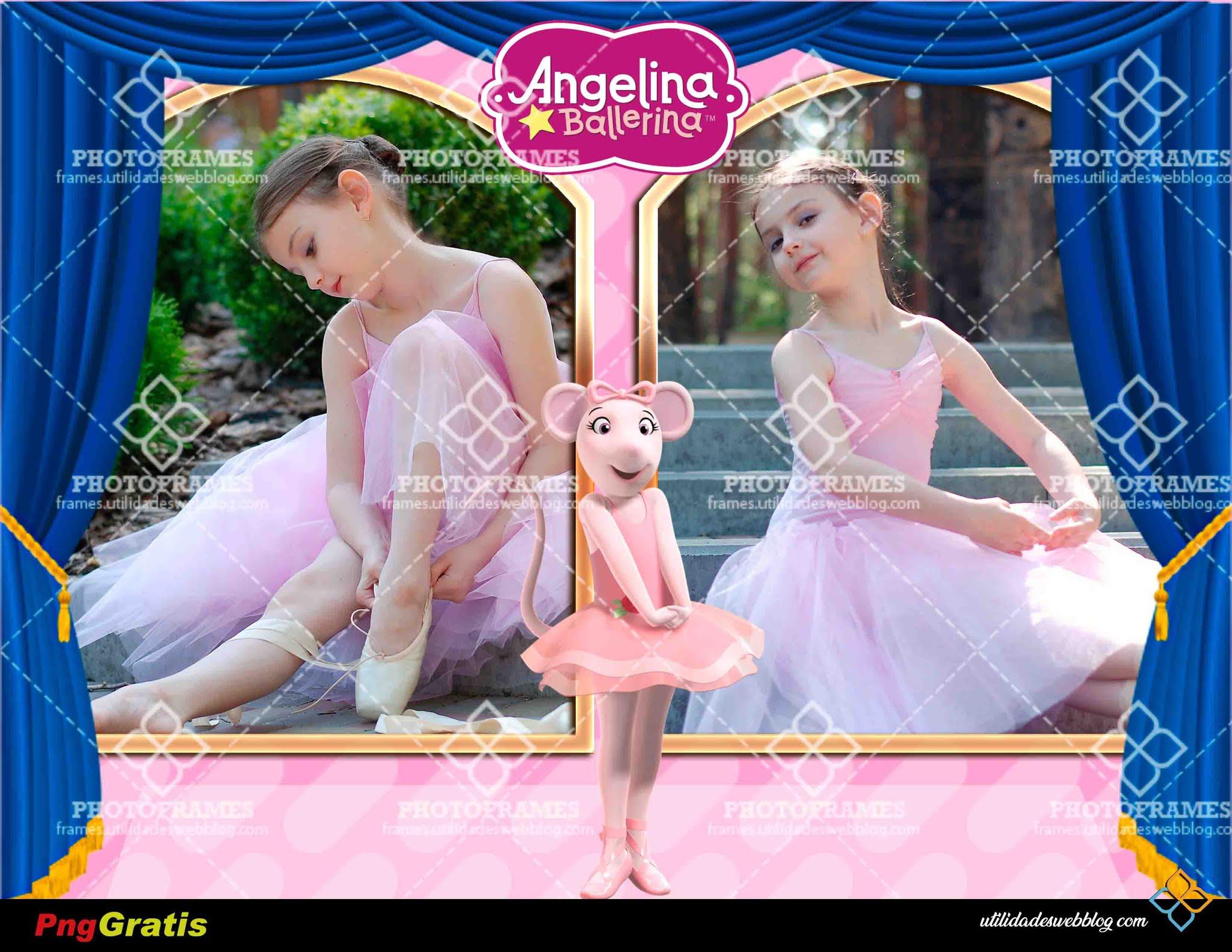 marco para fotos de bailarinas con Angelina Ballerina