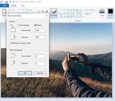 Cara Mengubah Ukuran Foto Menjadi 100kb di Paint 3