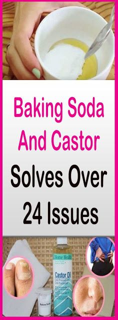 Baking Soda And Castor Oil Solves Over 24 Issues