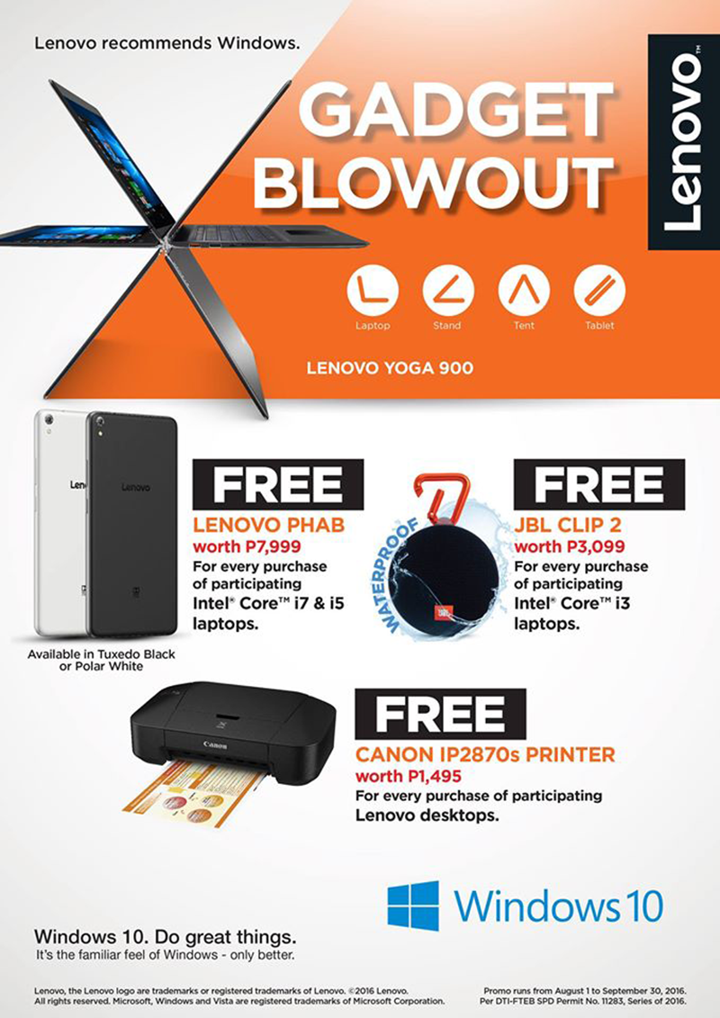 Lenovo Gadget Blowout Promo Announced, Get Exciting Freebies!