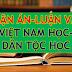 Luận án Tiến sĩ, Luận văn Thạc sĩ ngành Việt Nam Học-Dân Tộc Học