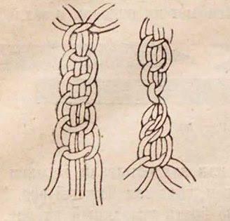 плетение столбиков в сумке